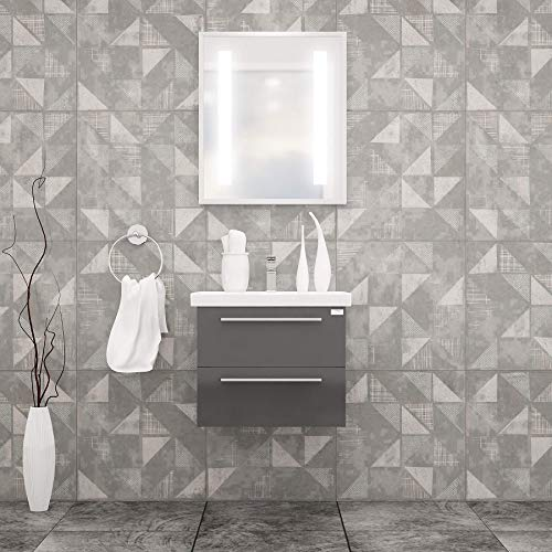 ELKE BATHROOM VANITY AND CERAMIC SINK COMBO WITH LED MIRROR - Exquisite Home Furnishings Powered by IEE Brothers LLC