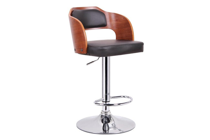 SITKA WALNUT AND BLACK MODERN BAR STOOL - Exquisite Home Furnishings Powered by IEE Brothers LLC