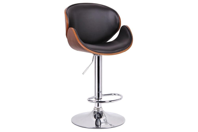CROCUS WALNUT AND BLACK MODERN BAR STOOL - Exquisite Home Furnishings Powered by IEE Brothers LLC