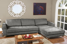Load image into Gallery viewer, BAXTON STUDIO AGNEW CONTEMPORARY GREY MICROFIBER RIGHT FACING SECTIONAL SOFA - Exquisite Home Furnishings Powered by IEE Brothers LLC