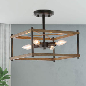 GEOMETRIC BOX SEMI-FLUSH LIGHT - Exquisite Home Furnishings Powered by IEE Brothers LLC