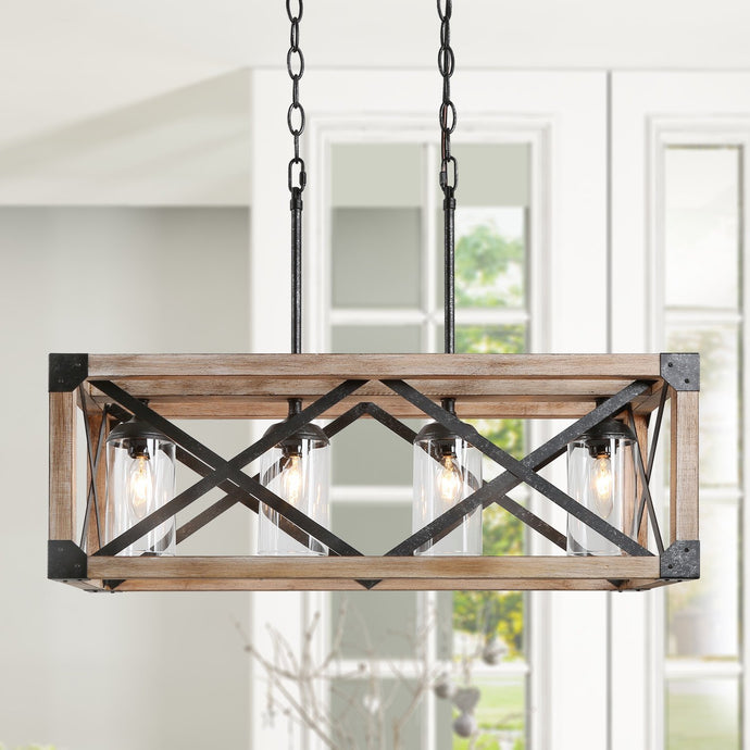 WOOD AND METAL CHANDELIER - Exquisite Home Furnishings Powered by IEE Brothers LLC