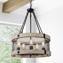 Load image into Gallery viewer, WOOD DRUM CHANDELIER - Exquisite Home Furnishings Powered by IEE Brothers LLC