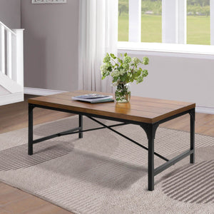 RUSTIC LIGHT BROWN WOOD COFFEE TABLE - Exquisite Home Furnishings Powered by IEE Brothers LLC