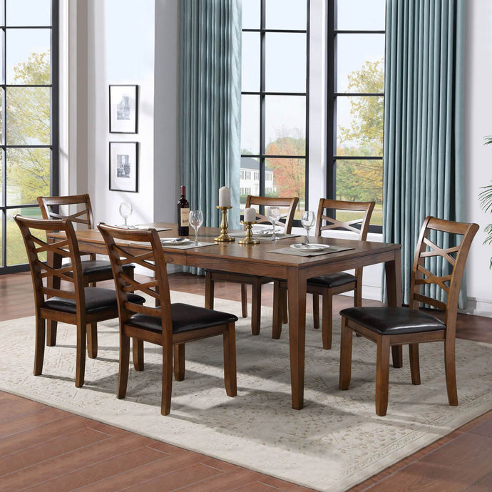 TRADITIONAL DARK BROWN DINING SET – 7 PIECES - Exquisite Home Furnishings Powered by IEE Brothers LLC