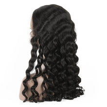 Load image into Gallery viewer, Loose Curly Peruvian Virgin Hair Lace Front Wigs