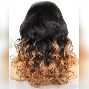 Highlight Color 1B Natural Black And Honey Blonde Lace