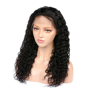 Virgin Hair Peruvian Deep Wave Lace Front Wigs