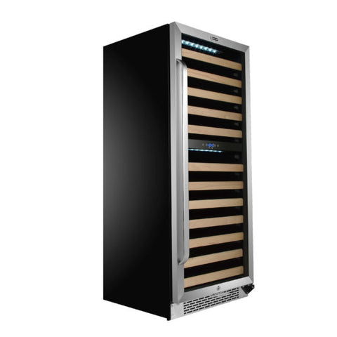 Image of 92 Bottle Built-in Stainless Steel Dual Zone Compressor Wine Refrigerator by Whynter (Available 11/25/20)