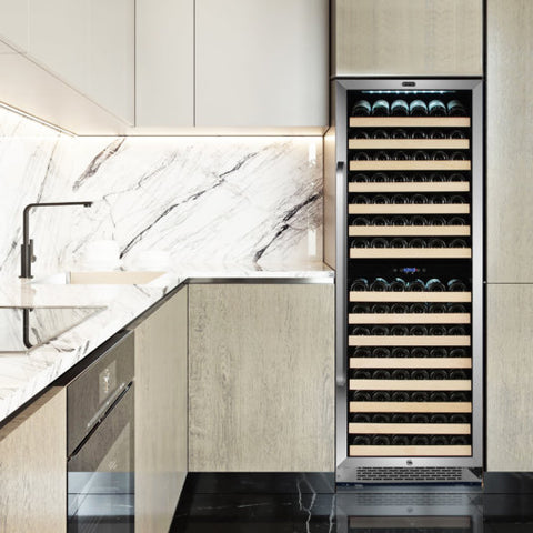 Dual Zone Compressor Wine Refrigerator with Display Rack and LED display by Whynter