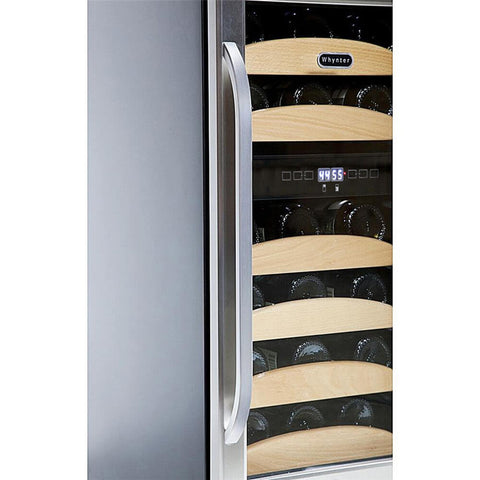 28 Bottle Dual  Temp Wine Cooler by Whynter