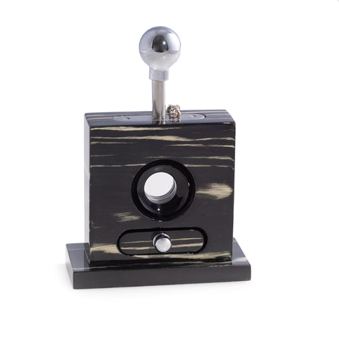 Image of Lacquered Ebony Wood Table Top Guillotine Cutter by Bey-Berk