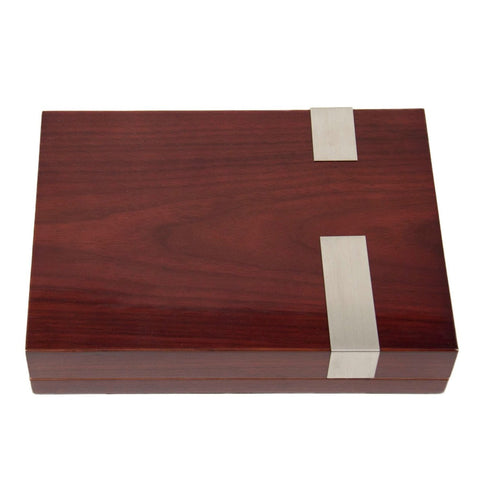 Image of Bey-Berk Walnut Travel Humidor 12 Count