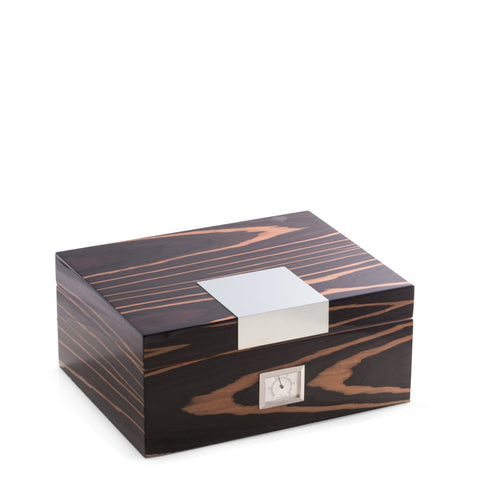 Ebony Wood Humidor by Bey-Berk