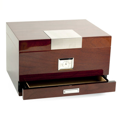 Image of Bey-Berk Walnut Humidor Accessories Drawer
