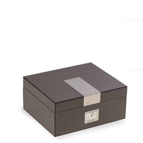 Carbon Fiber Wood Humidor by Bey-Berk