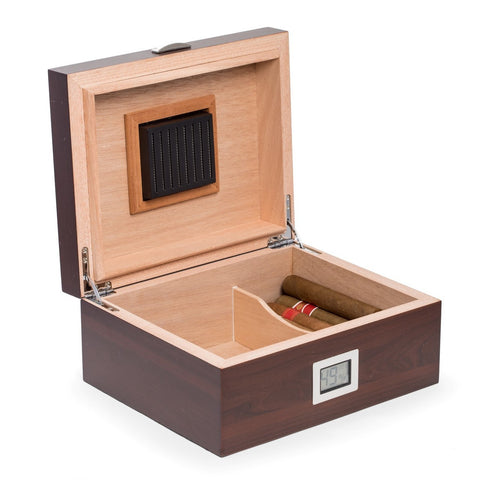 Image of Bey-Berk Walnut Wood Humidor