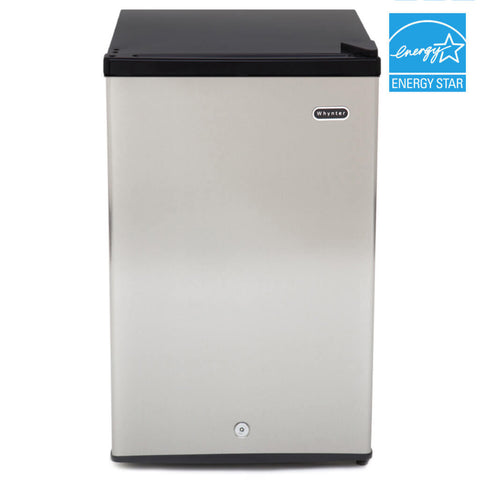 Energy Star Upright Freezer with Lock – Stainless Steel by Whynter