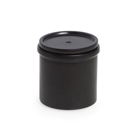 Hand Crafted Black Marble Two Piece Tobacco Canister by Bey-Berk