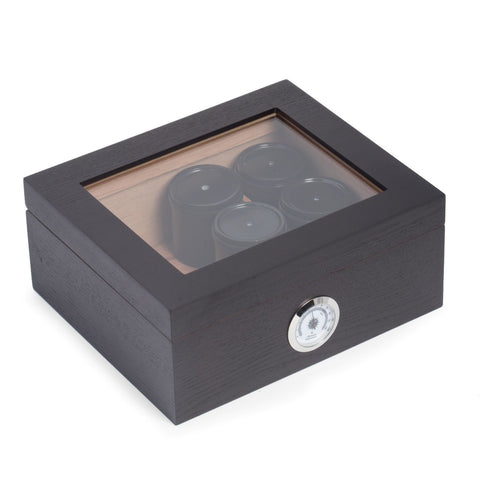 "Image of ""Espresso"" Wood Humidor Gift Set by Bey-Berk"