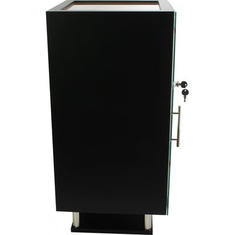 Prato Glass Top Black Cabinet by Adorini