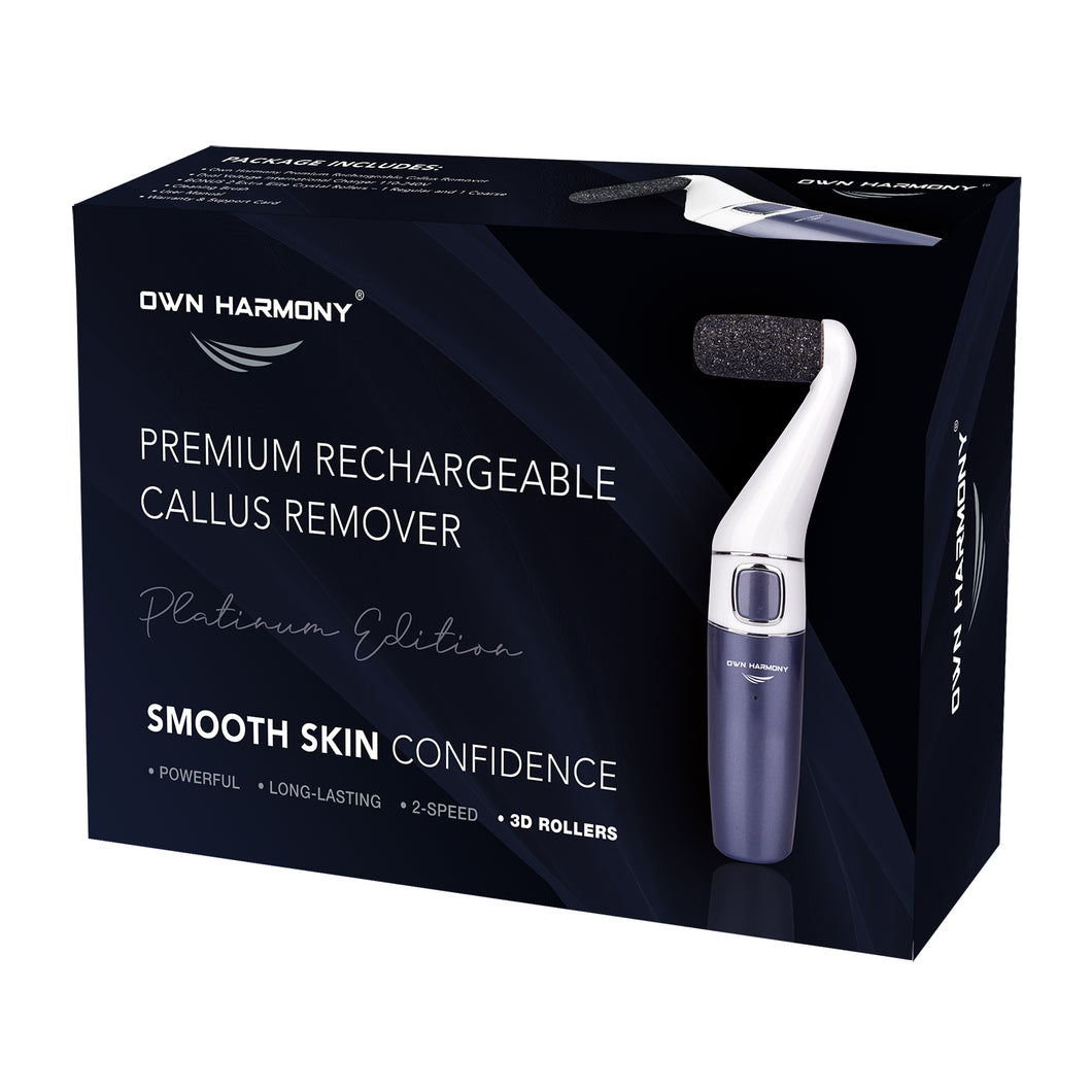 Electric Callus Remover CR1700 Series by Own Harmony - Professional Pedicure Tools (2020 Design) with 3 Rollers