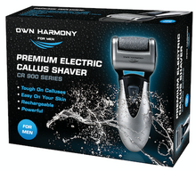 Load image into Gallery viewer, Electric Foot Callus Remover CR900 Series for Men by Own Harmony with 3 rollers - Perfect for Hard Cracked Skin