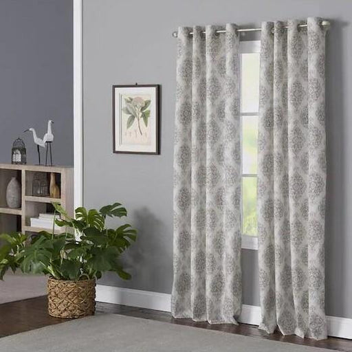 Zoe Blush Polyester Light Filtering Single Curtain Panel - Cotton Passion