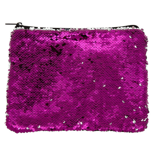 Reversible Sequin Makeup Bag - Pink - Cotton Passion