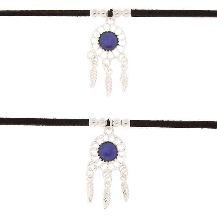 Best Friends Mood Dreamcatcher Choker Necklaces - 2 Pack - Cotton Passion