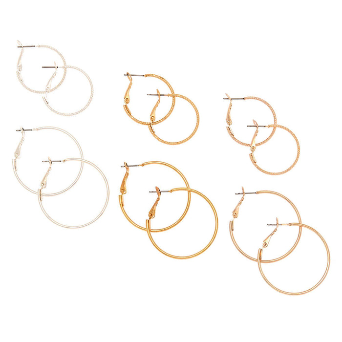 Mixed Metal Hoop Earrings - Cotton Passion