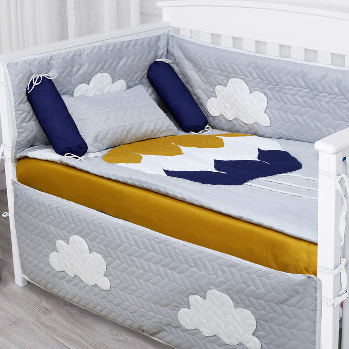 Premium Quilted  Hot Air Balloon Embossed Cotset
