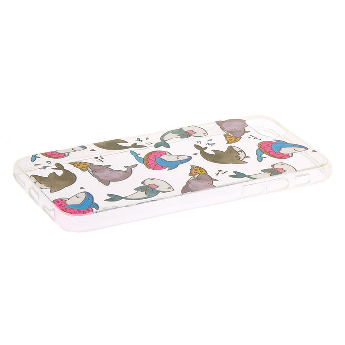 Hungry Sharks Clear Phone Case - Fits iPhone 678SE - Cotton Passion