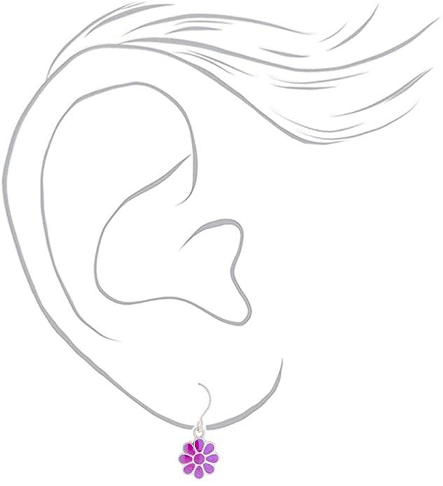 Claire's Girl's Rainbow Daisy Drop Earrings - Cotton Passion