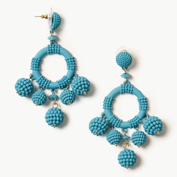 Circle Drop Earring - Cotton Passion