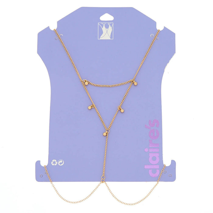 Gold Beaded Body Chain - Cotton Passion
