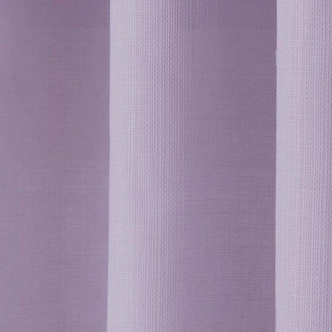 Delmar Purple Polyester Light Filtering Single Curtain Panel - Cotton Passion