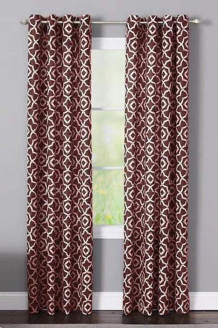Branford Brick Polyester Light Filtering Single Curtain Panel - Cotton Passion
