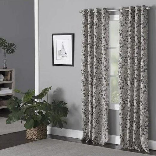 Taupe Vera Polyester Light Filtering Single Curtain Panel - Cotton Passion