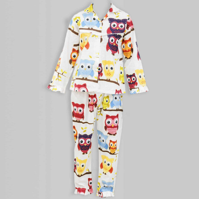 Big Owl Kids Night Suit - Cotton Passion