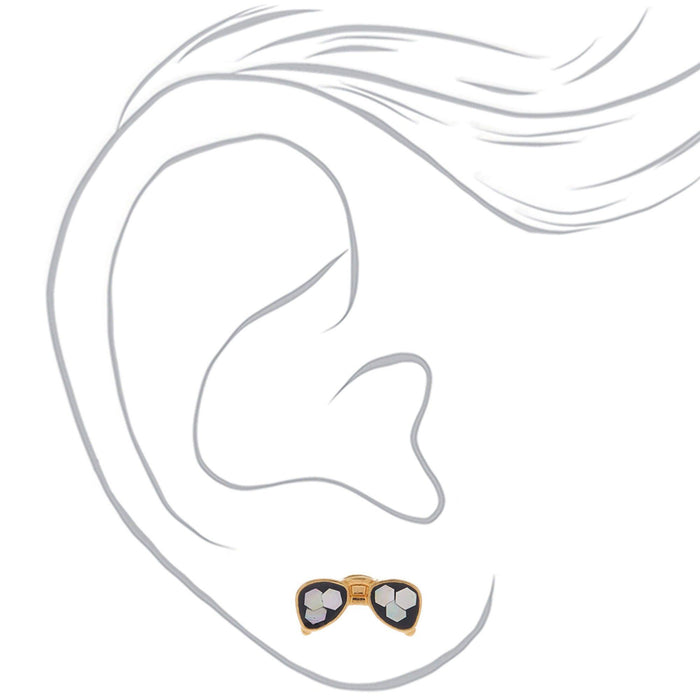 Sterling Silver Sequin Avaiator Stud Earrings - Cotton Passion