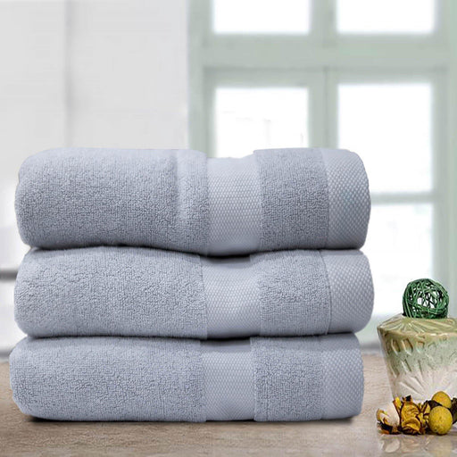 Double Stripe Soft Towel Ash - Cotton Passion