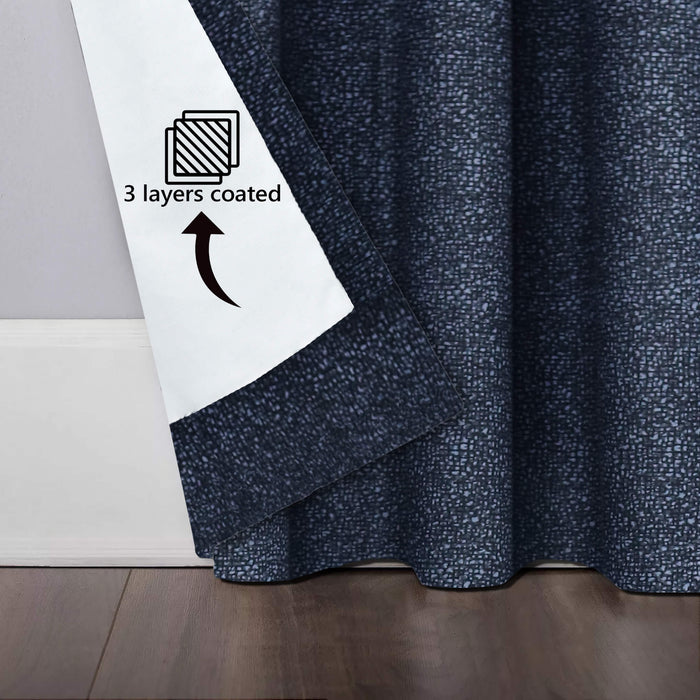 Bed Rock Black Coated Curtains
