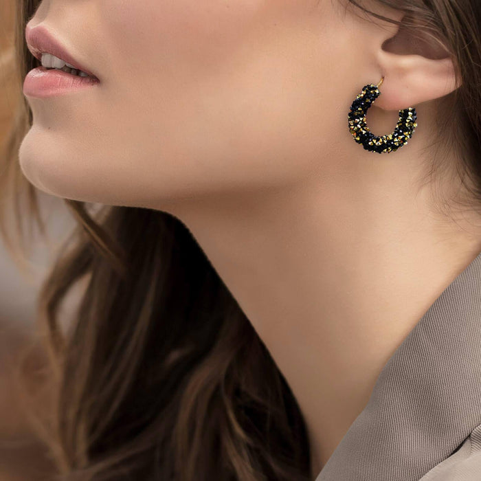 Sparkle Hoop Earrings - Cotton Passion