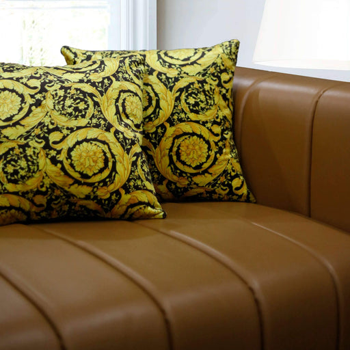 Black & Gold Velvet Cushion Cover - Cotton Passion
