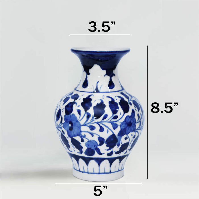 Round Ceramic Medium Vase Blue