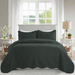 Ultrasonic Quilted Bedspread Charcoal - Cotton Passion