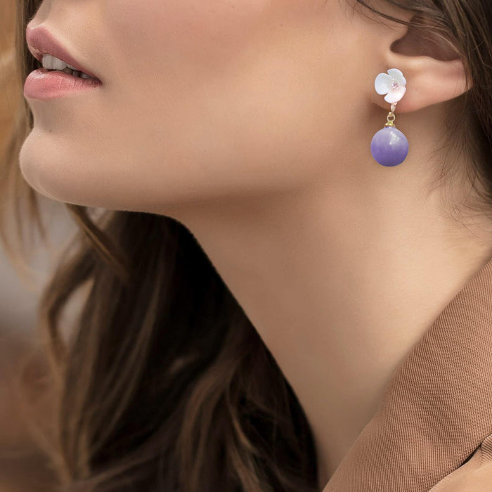 Pearl Drop Earrings - Cotton Passion