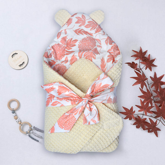 Floral Bear Ears Baby Wraps - Cotton Passion