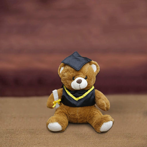 Graduation Bear Small Stuffed Toy - L  (11 inches) - Cotton Passion